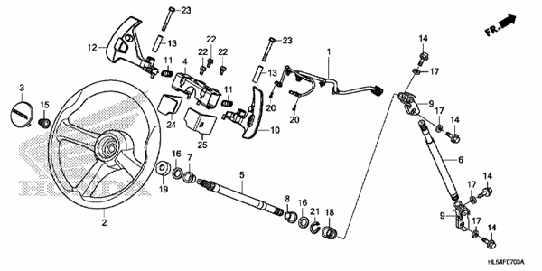STEERING WHEEL/STEERING SHAFT