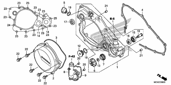 RIGHT CRANKCASE COVER/WATER PUMP