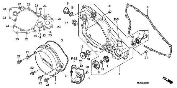 CRANKCASE COVER/WATER PUMP