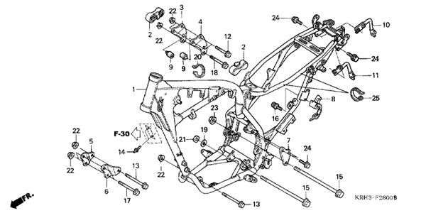 parts for xr125l 2011