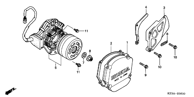 LEFT CRANKCASE COVER/GENERATOR