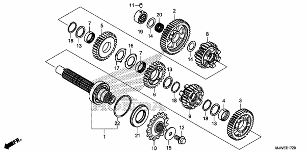 TRANSMISSION (COUNTERSHAFT)