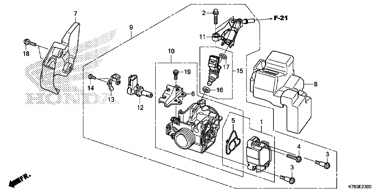 THROTTLE BODY - Honda Parts
