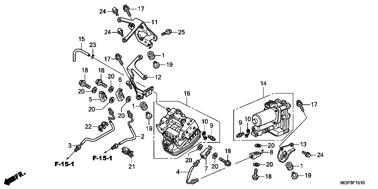 REAR POWER UNIT/REAR VALVE UNIT
